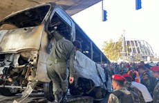 Syria: Đánh bom ở thủ đô, ít nhất 13 quân nhân thiệt mạng