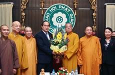 TW Mặt trận Tổ quốc làm việc với Giáo hội Phật giáo