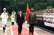 Chùm ảnh lễ đón, hội đàm nguyên thủ Việt Nam-Namibia