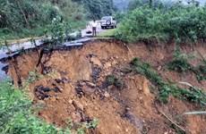 Mưa lớn gây sạt lở nghiêm trọng tại vùng núi Bắc Trà My