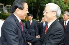Lãnh đạo Việt Nam điện mừng kỷ niệm lần thứ 38 quốc khánh Lào