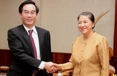 Lãnh đạo Lào tiếp đoàn cấp cao Kiểm toán Nhà nước
