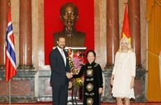 Phó Chủ tịch nước hội đàm với Thái tử của Na Uy