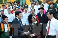 Chủ tịch nước gặp mặt đại biểu điển hình tiên tiến Hà Giang