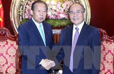 Chủ tịch Quốc hội Nguyễn Sinh Hùng tiếp Đoàn Nghị sỹ Nhật Bản
