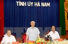 Tổng Bí thư Nguyễn Phú Trọng thăm, làm việc tại tỉnh Hà Nam