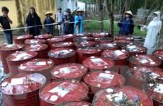 Chất thải nguy hại tại Nicotex Thanh Thái được xử lý an toàn