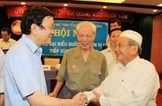 Chủ tịch nước tiếp xúc cử tri quận 1 và quận 3 của TP Hồ Chí Minh