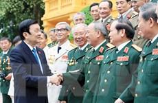 Chủ tịch nước gặp mặt Đoàn cựu chiến binh Sư đoàn I Anh hùng