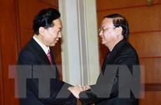 Trưởng Ban Tổ chức Trung ương tiếp cựu Thủ tướng Nhật Bản