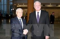 Tổng Bí thư Nguyễn Phú Trọng hội kiến với Thủ tướng Belarus