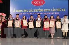 Trao giải thưởng KOVA lần thứ 12 cho các tập thể và cá nhân