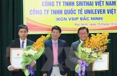 Bắc Ninh cấp phép hai dự án đầu tư có tổng vốn 70 triệu USD