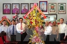 Đoàn Mặt trận Tổ quốc chúc Giáng sinh tại Giáo phận Long Xuyên