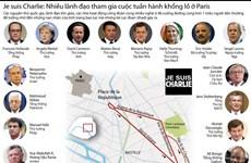 [Infographics] Nhiều lãnh đạo tham gia đại tuần hành ở Paris