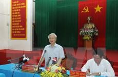 Tổng Bí thư Nguyễn Phú Trọng thăm, làm việc tại Trà Vinh