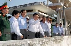 Chủ tịch nước kiểm tra tình hình hạn hán tại Ninh Thuận