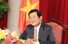 Chủ tịch nước và Phu nhân đi thăm và làm việc tại Lào