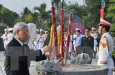 Lãnh đạo Đảng, Nhà nước viếng nghĩa trang liệt sỹ TP.HCM