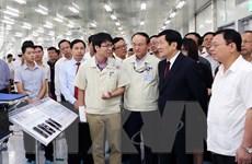 Chủ tịch nước Trương Tấn Sang thăm và làm việc tại Thái Nguyên