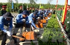 Truy điệu, cải táng liệt sỹ quân tình nguyện hy sinh ở Campuchia