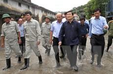 Chủ tịch nước kiểm tra khắc phục hậu quả lũ lụt tại Quảng Ninh