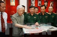 Tổng Bí thư tới thăm và làm việc với Báo Quân đội nhân dân