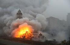 Cháy lớn thiêu rụi Bảo tàng Ngôn ngữ Bồ Đào Nha ở Sao Paulo