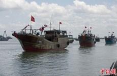 Đuổi 6 tàu Trung Quốc đánh cá trong vùng biển tỉnh Quảng Bình