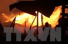 Cháy lớn ở xưởng sản xuất gỗ, gây thiệt hại nhiều tỷ đồng