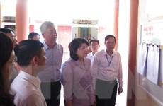 Phó Chủ tịch nước kiểm tra công tác chuẩn bị bầu cử ở Thái Bình
