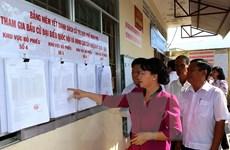 Chủ tịch Quốc hội kiểm tra chuẩn bị bầu cử ở Hậu Giang, Kiên Giang