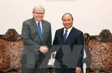 Thủ tướng Chính phủ tiếp nguyên Thủ tướng Australia Kevin Rudd