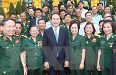 Chủ tịch nước gặp mặt các đại biểu doanh nhân cựu chiến binh
