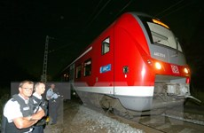 IS tung video thanh niên tấn công bằng rìu trên tàu hỏa ở Đức