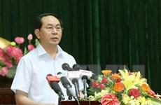 Chủ tịch nước tiếp xúc cử tri tại Thành phố Hồ Chí Minh