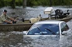 Tổng thống Mỹ Obama thị sát vùng lũ ở bang Louisiana