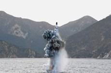 Yonhap: Tên lửa của Triều Tiên rơi xuống vùng biển Nhật Bản