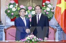 Chủ tịch nước Trần Đại Quang tiếp Thống đốc tỉnh Aichi
