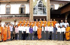 Chủ tịch MTTQ Việt Nam thăm Học viện Phật giáo Nam tông Khmer