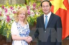 Chủ tịch nước Trần Đại Quang tiếp Phó Chủ tịch Hạ viện Anh