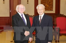 Tổng Bí thư Nguyễn Phú Trọng tiếp Tổng thống Ireland Higgins