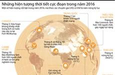 [Infographics] Những hiện tượng thời tiết cực đoan trong năm 2016