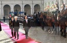 Chủ tịch nước Trần Đại Quang hội đàm với Tổng thống Italy
