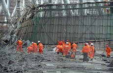 Trung Quốc bắt giữ 13 nghi phạm liên quan vụ sập công trình