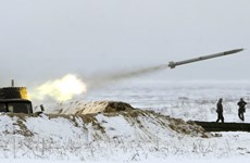 Quân đội Ukraine bắt đầu tập trận bắn tên lửa gần Crimea