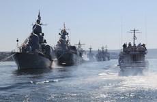 Nga triển khai tàu chiến đối phó tập trận tên lửa của Ukraine
