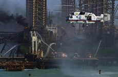Azerbaijan: Sập giàn khoan dầu trên biển, nhiều công nhân mất tích