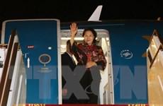 Chủ tịch Quốc hội kết thúc thăm Ấn Độ, dự hội nghị nữ chủ tịch QH