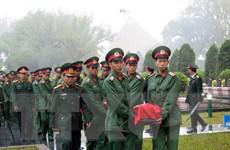 An táng hài cốt liệt sỹ quân tình nguyện Việt Nam hy sinh tại Lào